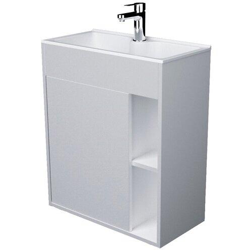 Фото - Тумба для ванной комнаты с раковиной 1Marka Lido, ШхГхВ: 71.7х30х60 см, цвет: белый глянец тумба для ванной комнаты с раковиной am pm like напольная шхгхв 80х45х85 см цвет белый глянец