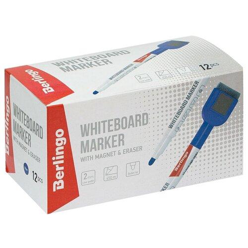 Berlingo Набор синих маркеров для для белой доски Uniline WB220 (PM7213), 12 шт., синий по цене 660