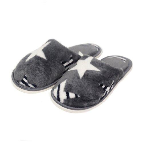 Тапочки ivshoes серый/звезды 38-39