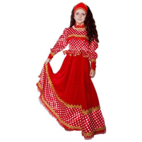 Купить Костюм Батик Любава (2040), красный, размер 134, Карнавальные костюмы