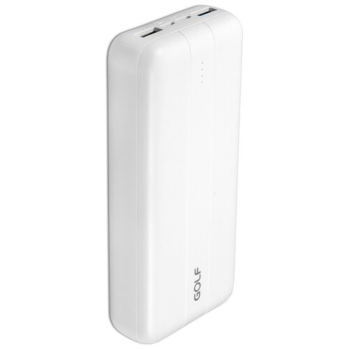 Внешний аккумулятор GOLF G93PD 20000 mAh 2*USB + Type-C Power Delivery + Quick Charge 18W белый