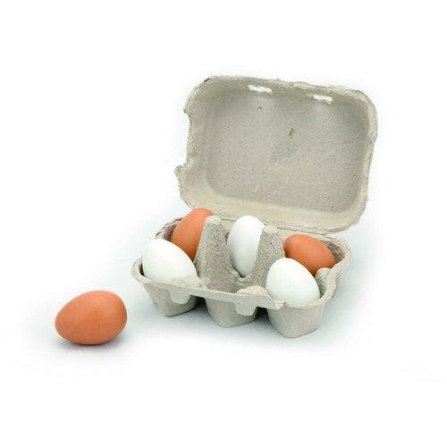 Купить Набор продуктов Viga Яйца 59228 белый/коричневый, Игрушечная еда и посуда