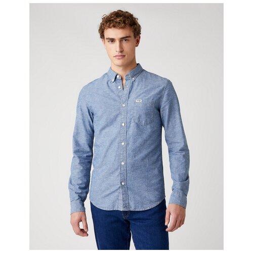 Рубашка Wrangler размер L голубой
