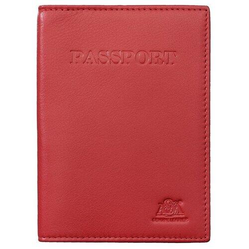 Обложка для паспорта A&M, 2115 красная
