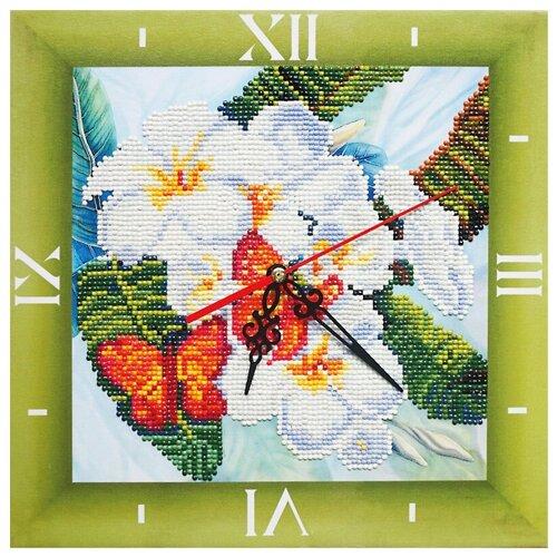 Фото - Color Kit Набор алмазной вышивки с часовым механизмом Бабочки и магнолии (7303001) 30х30 см color kit набор алмазной вышивки с часовым механизмом две стихии 7303013 30х30 см
