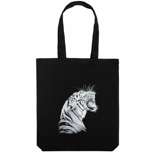 Сумка-шоппер Like a Tiger, черная