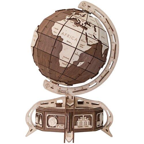 Фото - Сборная модель Eco Wood Art Глобус коричневый сборная модель eco wood art глобус голубой