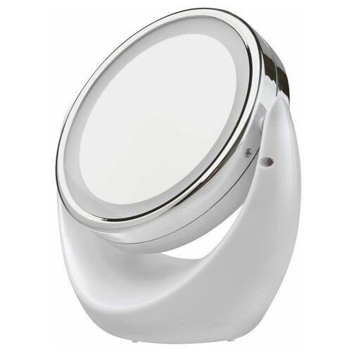 gezatone lm100 с подсветкой Зеркало косметическое настольное Gezatone LM110 с подсветкой белый/серебристый