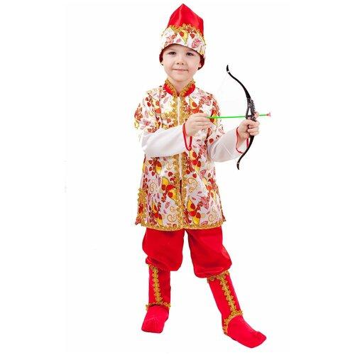 Купить Костюм пуговка Иван-Царевич (1012 к-18), красный/белый/желтый, размер 116, Карнавальные костюмы