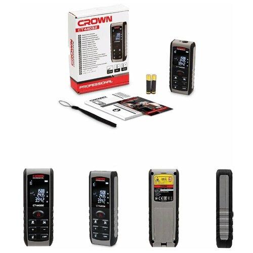 Дальномер лазерный CROWN CT44032 лазерный дальномер crown ct44032 40 м серый черный
