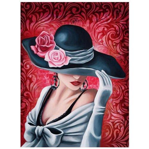 Купить Алмазная живопись Набор алмазной вышивки Леди Роза (АЖ-1504) 30x40 см, Алмазная вышивка