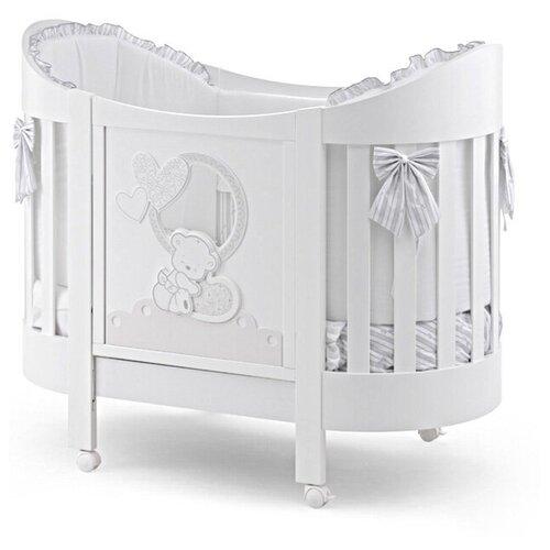 Купить Овальная кровать Italbaby Love Oval белая, Колыбели и люльки