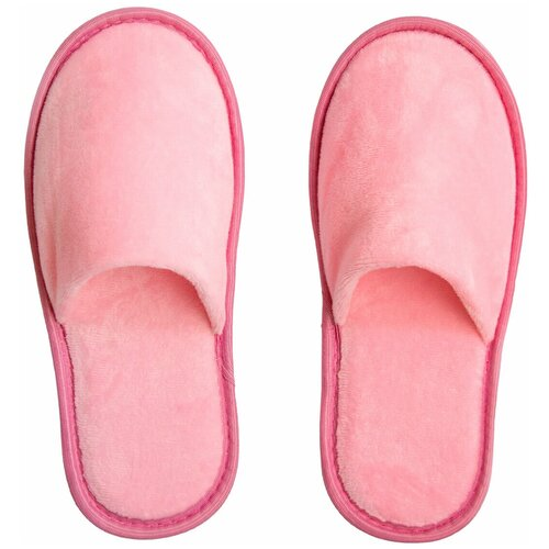 Тапочки женские Плюш AMARO HOME Закрытый нос (Розовый) 39-41