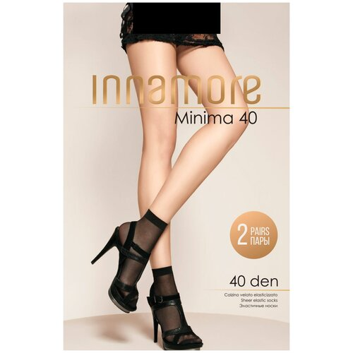 Капроновые носки Innamore Minima 40 den, 2 пары, размер UNI, nero
