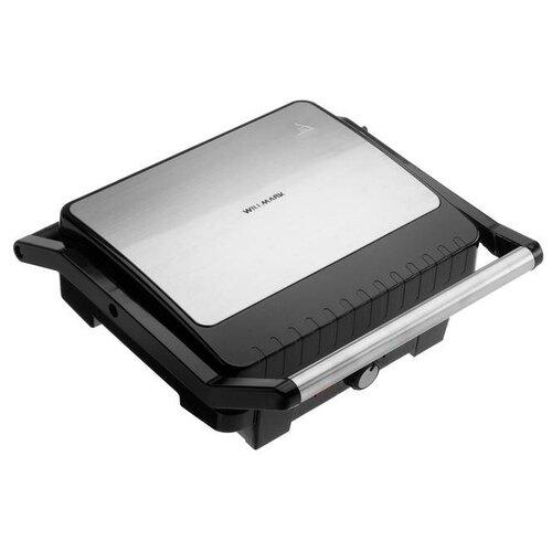 Гриль WILLMARK WG-3290 электрический 2200 Вт антипригарное покрытие чёрно-серебристый 5864032