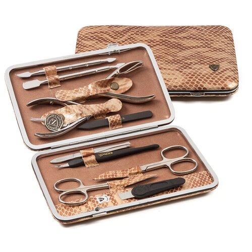 Фото - Маникюрный набор Zinger MSFE–804 S, коричневый маникюрный набор с косметичкой zinger ms 1205 804 s 10 предметов