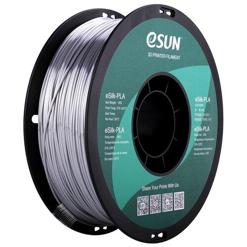 Фото - Esun Катушка пластика eSilk-PLA Esun, 1.75 мм, 1 кг, серебряная pla пруток esun 1 75 мм желтый 1 кг