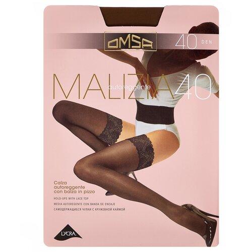 Чулки Omsa Malizia, 40 den, размер 4-L, camoscio (коричневый) чулки omsa malizia 40 den размер 2 s sierra коричневый
