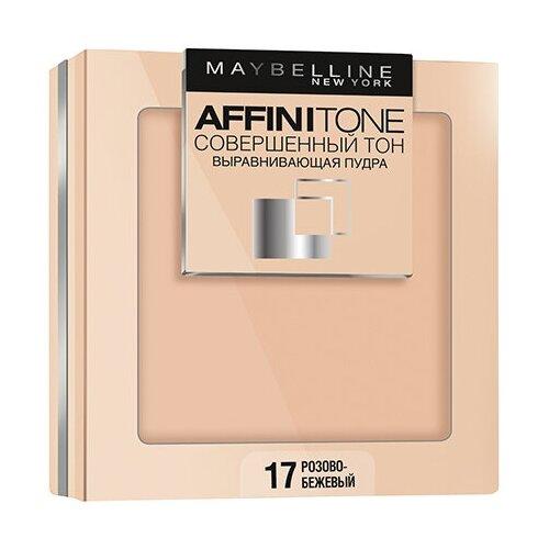 Maybelline New York Affinitone пудра компактная Совершенный тон выравнивающая и матирующая 17 розово-бежевый матирующая фиксирующая пудра для лица maybelline new york face studio setting powder 9 мл