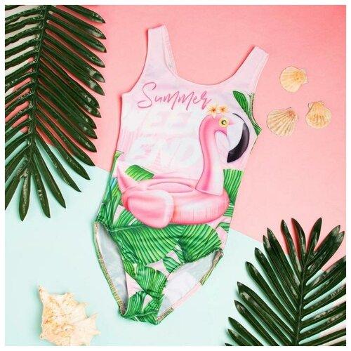 Купить Купальник Kaftan размер 134-140, розовый, Белье и купальники