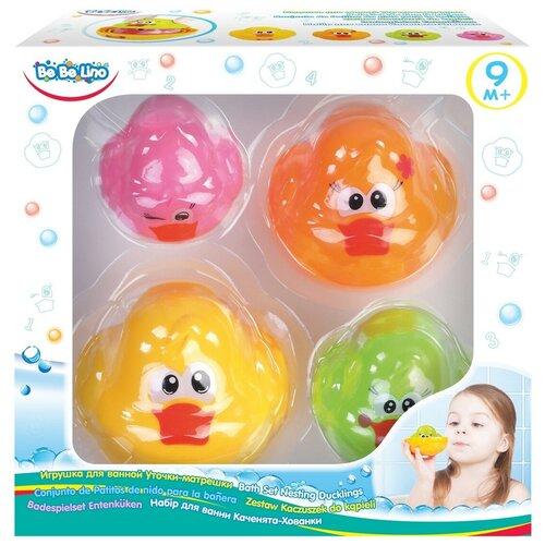 Купить Набор для ванной Bebelino Уточки-матрешки (75022) желтый/зеленый/розовый, Игрушки для ванной