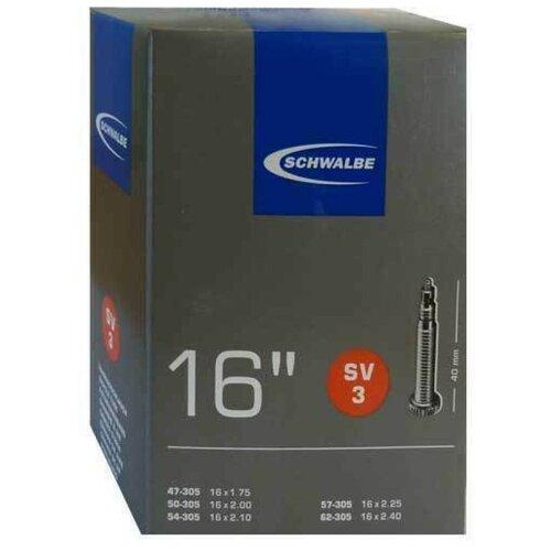 Камера. 16 спорт ниппель 05-10409313 SV3 (47/62-305) IB 40mm. SCHWALBE