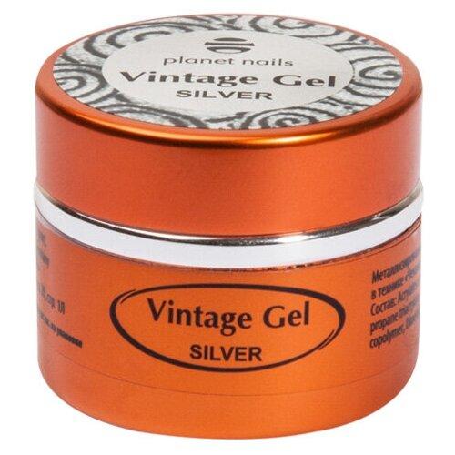 Фото - Паста гелевая planet nails Vintage Gel для чеканки silver planet nails кисть гелевая овальная из синтетического волоса 6 оранжевый