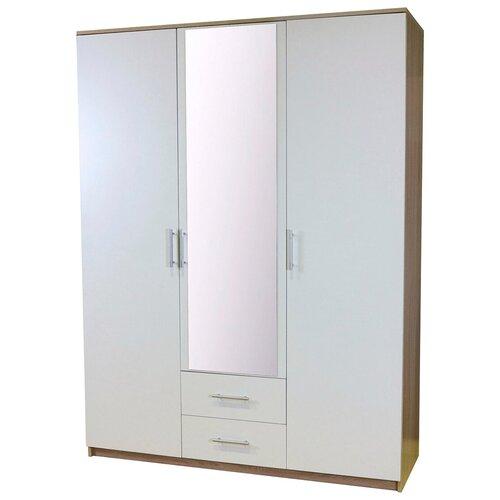 Шкаф Шарм-Дизайн Уют 150х52х200 Дуб Сонома+Белый