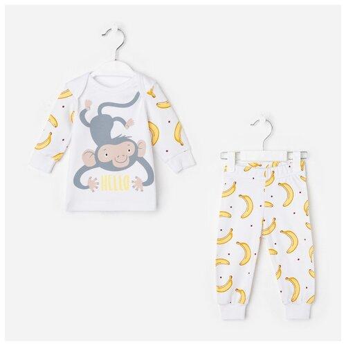 Купить Комплект одежды Крошка Я Hello размер 74-80, белый, Комплекты