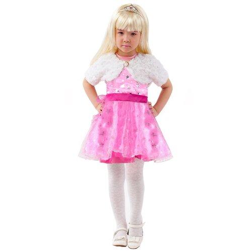 Фото - Костюм пуговка Барби (2094 к-20), розовый/белый, размер 128 костюм пуговка кузнечик 2080 к 20 зеленый размер 128