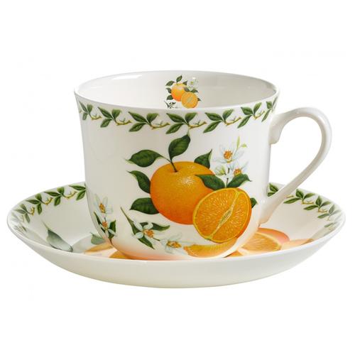 Фото - Чайная пара MAXWELL & WILLIAMS Апельсин, 480 мл, 2 предм., белый/оранжевый/зеленый пара чайная priority дыхание прованса вишня 480 мл