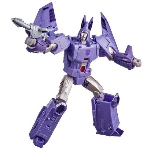 Купить Трансформер Transformers Королевство. Класс Вояджеры. Циклонус (F0692), фиолетовый/серый, Роботы и трансформеры