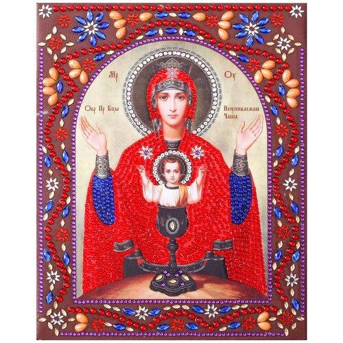 Купить Color Kit Набор алмазной вышивки Образ Пресвятой Богородицы Неупиваемая Чаша (IF019) 20х25 см, Алмазная вышивка