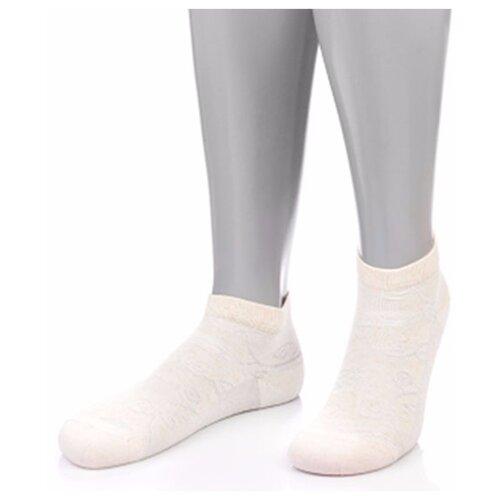 Носки женские Grinston 15D35/18D4 (лен+модал), Бежевый, 23 (размер обуви 35-37)