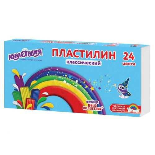 Купить Набор для лепки Юнландия Пластилин Юный волшебник 24 цвета 4, Пластилин и масса для лепки