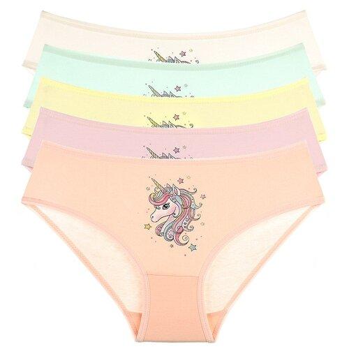Купить Трусы для девочек 4171PU, Цвет: Микс, Размер: 8/9, 5шт. в упаковке, Donella, Белье и купальники