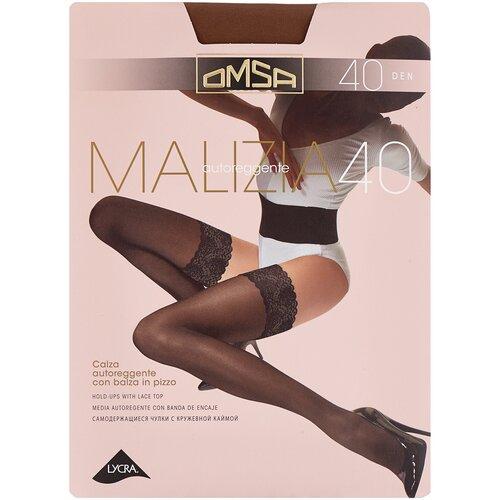Чулки Omsa Malizia, 40 den, размер 3-M, sierra (коричневый) чулки omsa malizia 40 den размер 2 s sierra коричневый