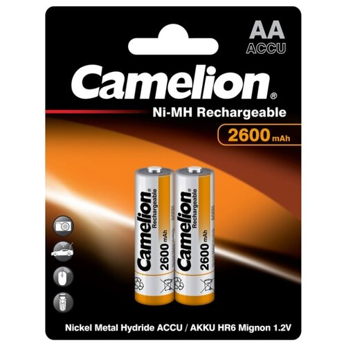 Фото - Аккумулятор Ni-Mh 2600 мА·ч Camelion NH-AA2600, 2 шт. аккумулятор ni mh 2500 ма·ч camelion nh aa2500 2 шт