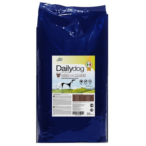 Сухой корм для собак DailyDog оленина, с кукурузой 20 кг