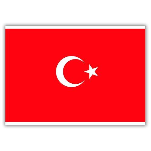 Магнит на холодильник большой - A4, Флаг Турции