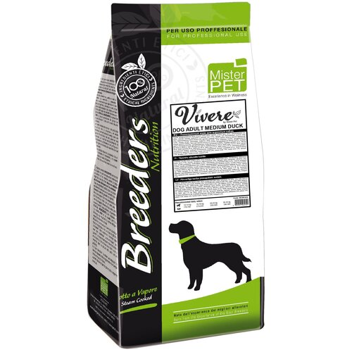 Фото - Сухой корм для собак Vivere утка 20 кг (для средних пород) сухой корм для собак vivere ягненок 3 кг для средних пород