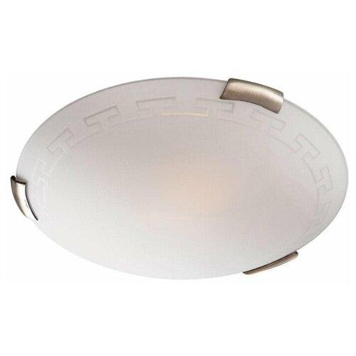 Настенно-потолочный светильник Сонекс Greca 361, E27, 300 Вт, цвет арматуры: бронзовый, цвет плафона: белый светильник без эпра сонекс greca 361 d 50 см e27