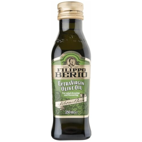 Filippo Berio масло оливковое Extra Virgin, стеклянная бутылка, 0.25 л