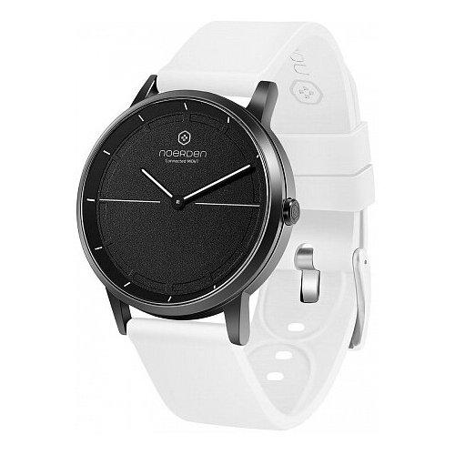 Смарт-часы Noerden гибридные MATE2 белый ремешок, черный циферблат