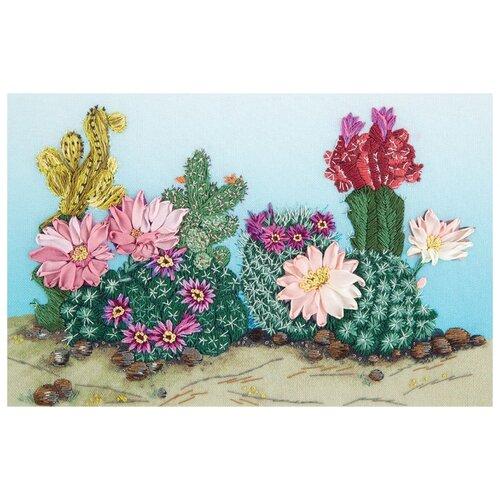Купить PANNA Набор для вышивания Живая картина. Весна в пустыне 24 х 16.5 см (JК-2131), Наборы для вышивания