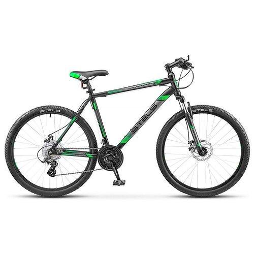 велосипед stels navigator 900 d 29 f010 21 серебристый синий Горный (MTB) велосипед STELS Navigator 900 MD 29 F010 (2019) черный/зеленый 21 (требует финальной сборки)