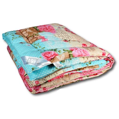 Фото - Одеяло АльВиТек Холфит-Стандарт, теплое, 140 х 205 см (голубой/бежевый/розовый) одеяло альвитек холфит комфорт теплое 172 х 205 см белый розовый