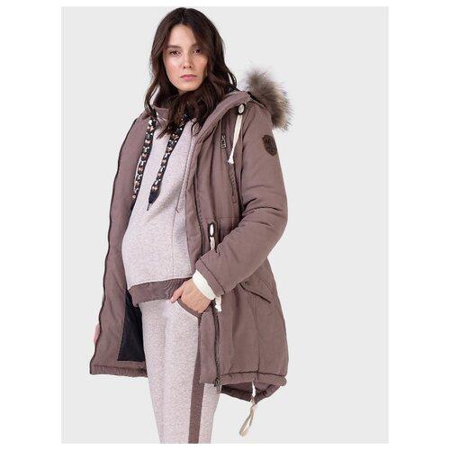 Куртка-парка зимняя 2в1 I love mum Ньюкасл кофейная для беременных (44)