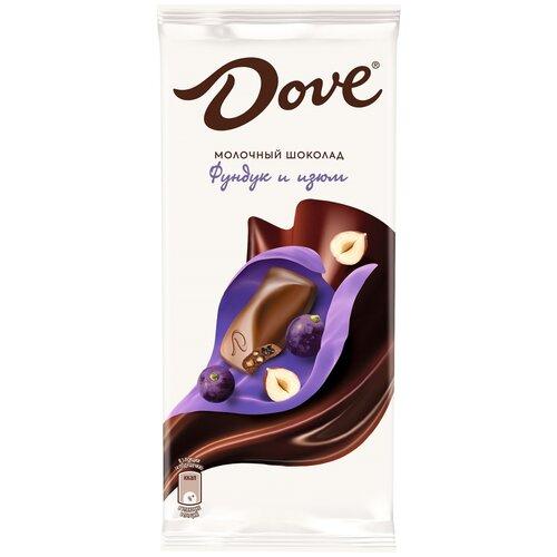 Фото - Шоколад Dove молочный с изюмом и дроблёным фундуком, 90 г шоколад dove 90г молочный с цельным фундуком одинцовская кф