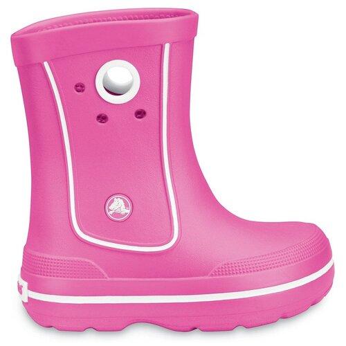 Резиновые сапоги Crocs Crocband Jaunt Kids размер 25-26(С8/С9), розовый шлепанцы crocs crocband flip размер 36 37 m4 w6 navy